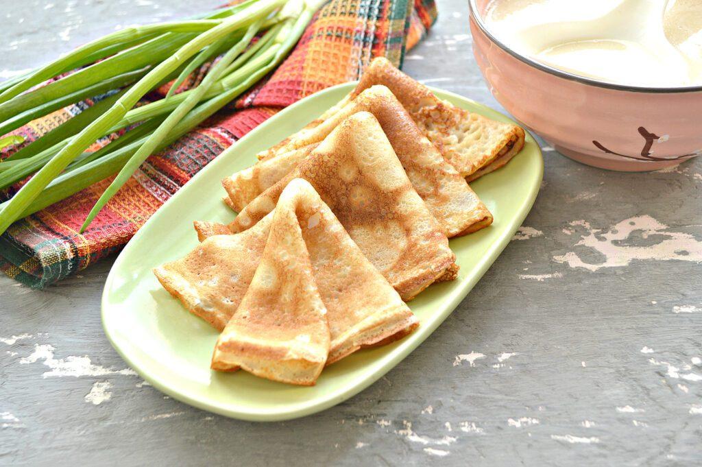 Фото рецепта - Тесто для ажурных блинчиков на кипятке - шаг 9