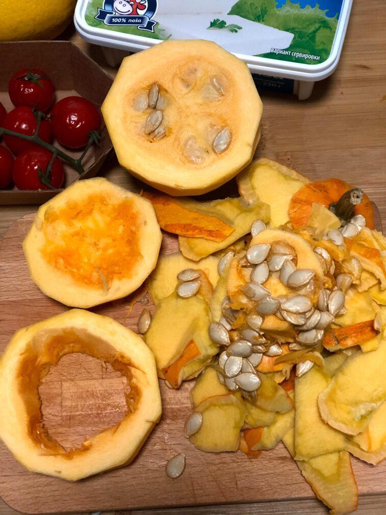 Фото рецепта - Диетический салат с печёной тыквой - шаг 2