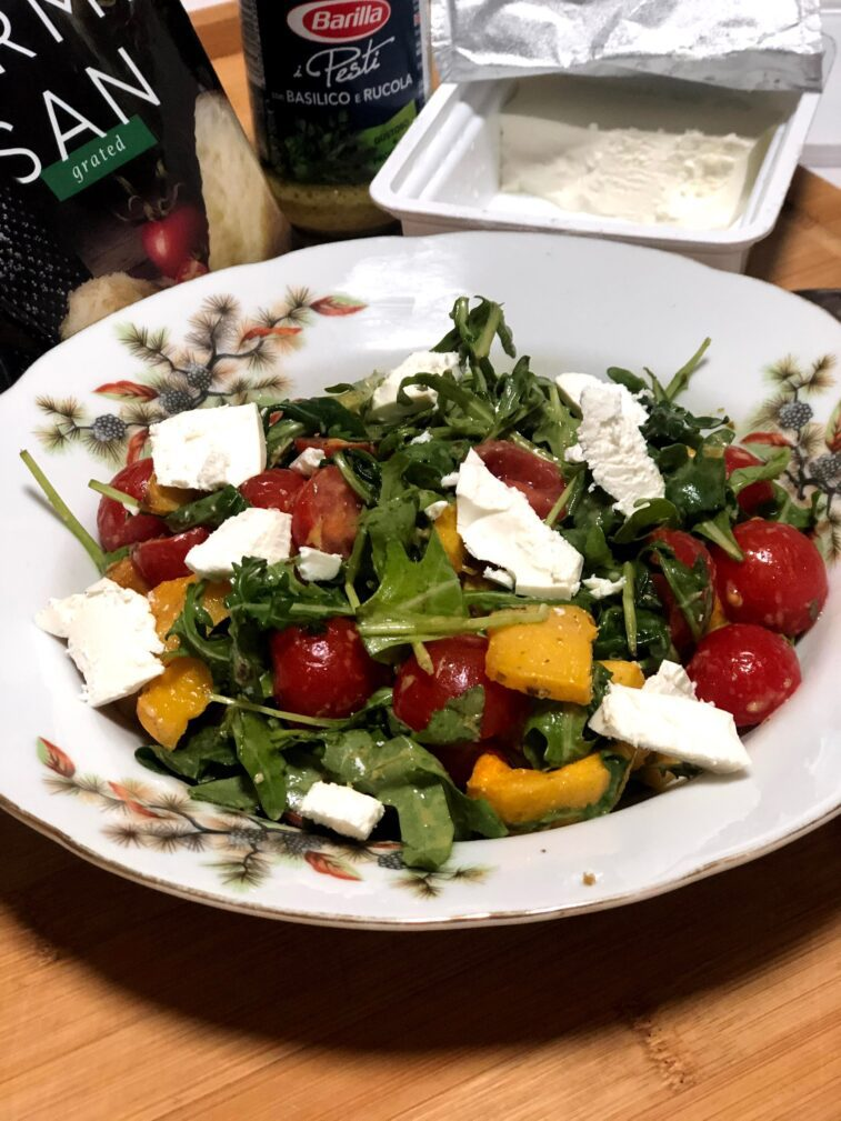 Фото рецепта - Диетический салат с печёной тыквой - шаг 10