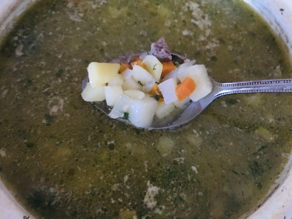 Фото рецепта - Овощной суп на свином бульоне - шаг 8