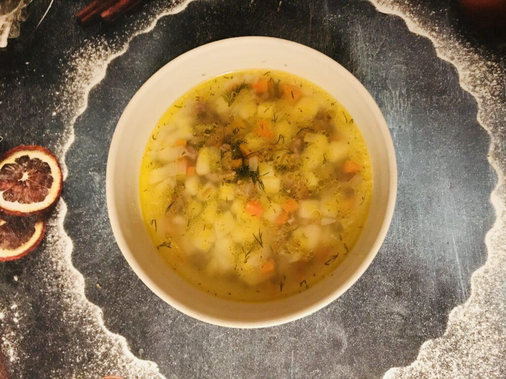 Фото рецепта - Овощной суп на свином бульоне - шаг 9