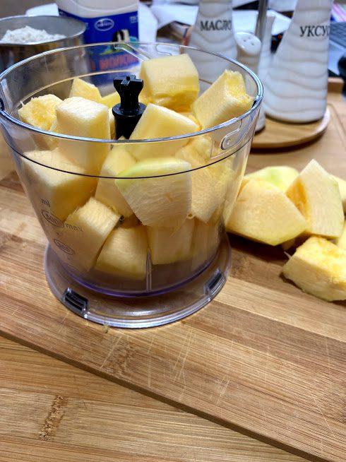 Фото рецепта - Блины из кабачков на молоке - шаг 3