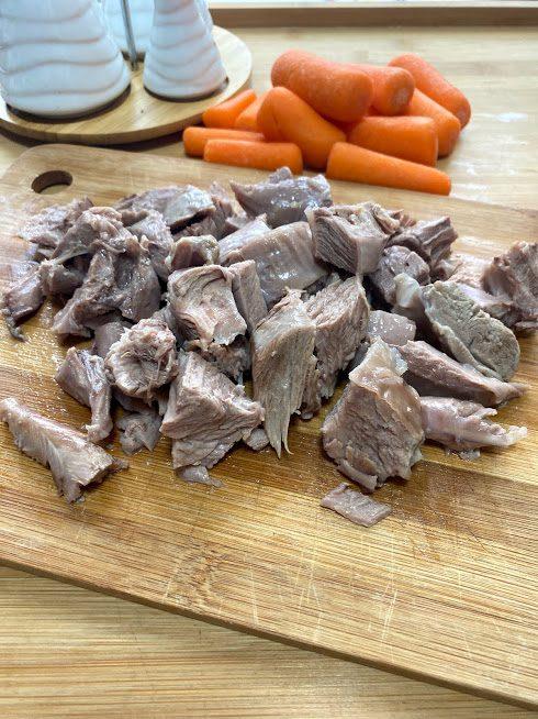 Фото рецепта - Рагу из индейки в тыкве - шаг 5