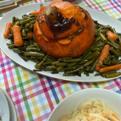Рагу из индейки в тыкве - рецепт с фото