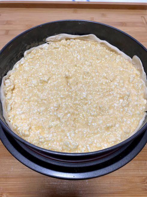 Фото рецепта - Пирог из сыра и спаржи - шаг 8