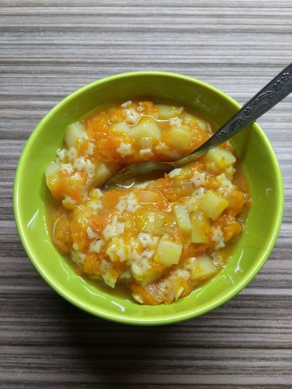 Отварные овощи с макаронами