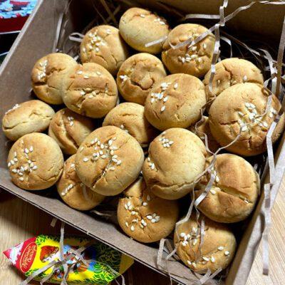 Рисовое печенье с кунжутом - рецепт с фото