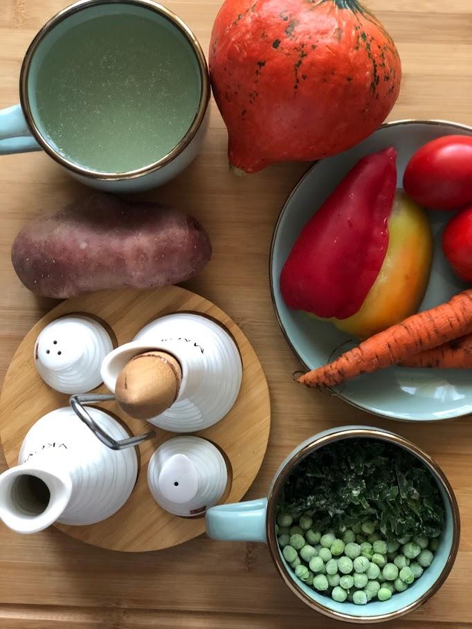 Фото рецепта - Айнтопф с тыквой (овощной суп) - шаг 1