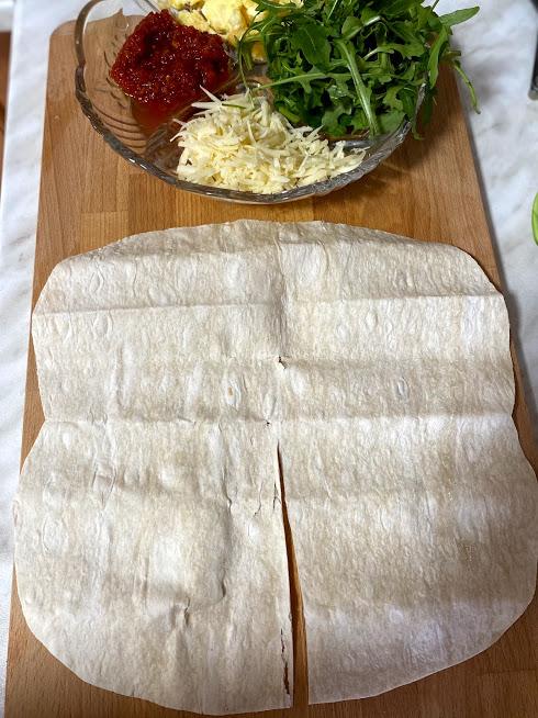 Фото рецепта - Рваный омлет в лаваше - шаг 8