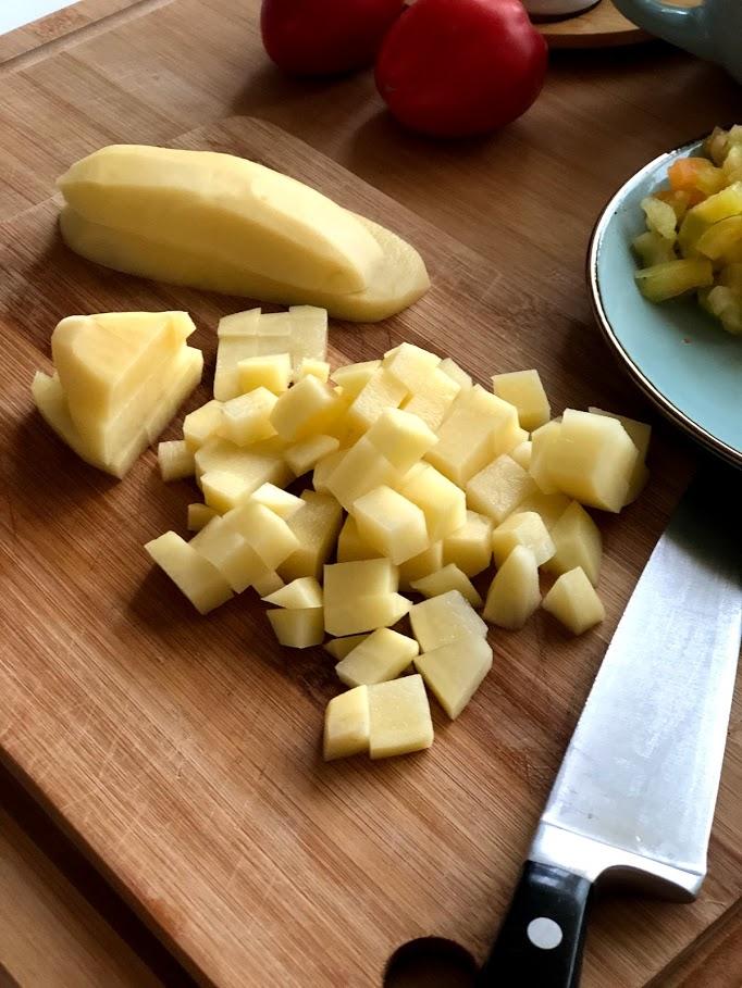 Фото рецепта - Айнтопф с тыквой (овощной суп) - шаг 3