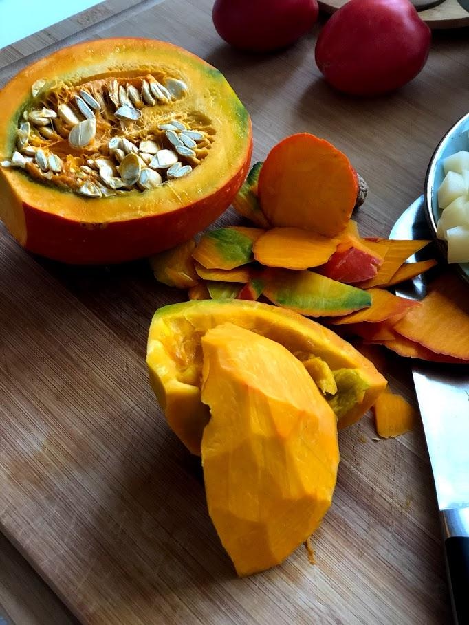 Фото рецепта - Айнтопф с тыквой (овощной суп) - шаг 4