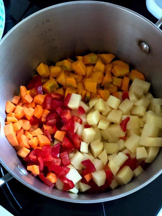 Фото рецепта - Айнтопф с тыквой (овощной суп) - шаг 6