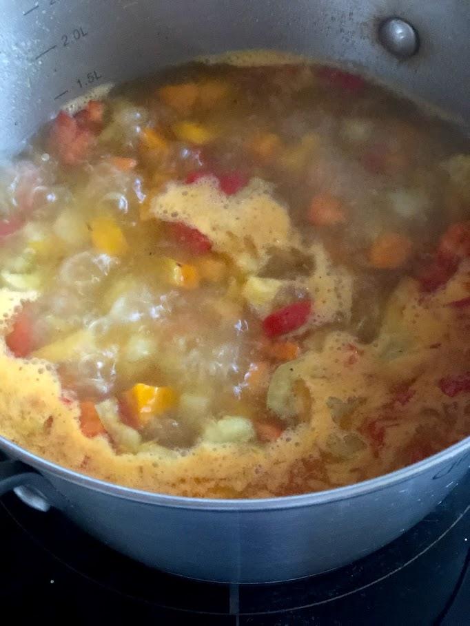 Фото рецепта - Айнтопф с тыквой (овощной суп) - шаг 7