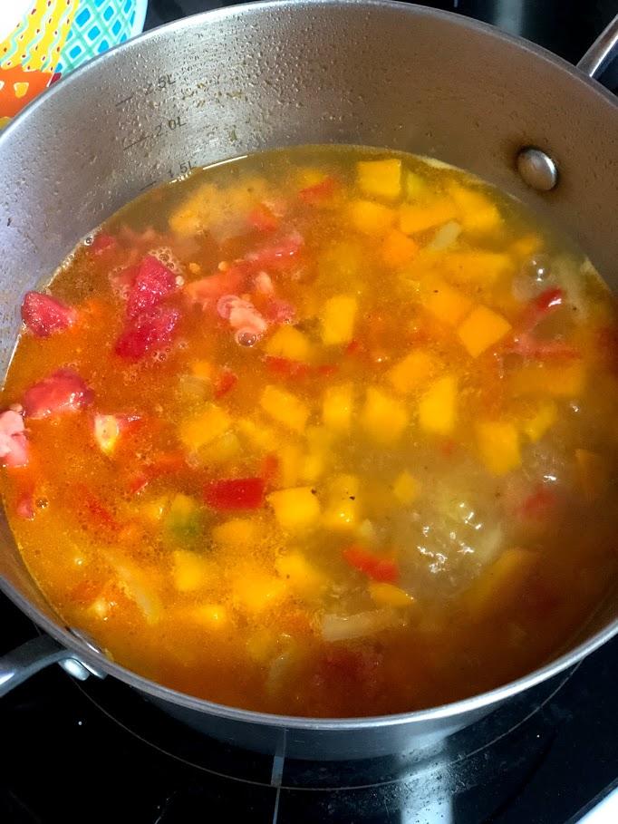 Фото рецепта - Айнтопф с тыквой (овощной суп) - шаг 11
