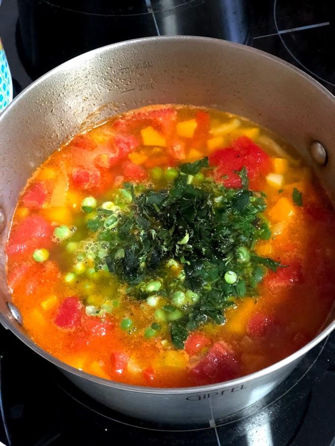 Фото рецепта - Айнтопф с тыквой (овощной суп) - шаг 12