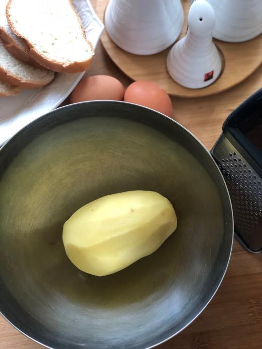 Фото рецепта - Гренки с картофелем - шаг 2