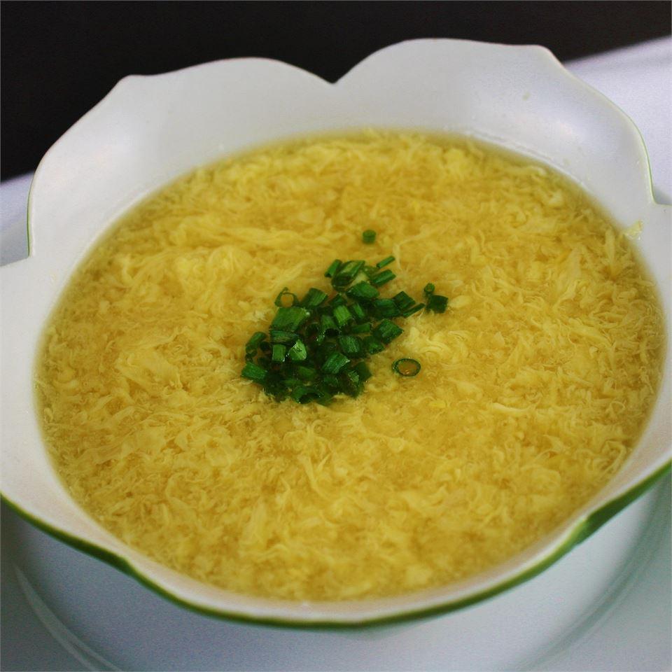 Китайский яичный суп