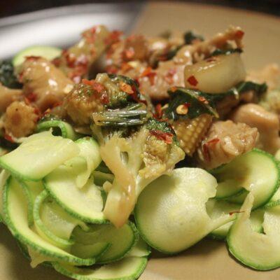 Жаркое из курицы с овощами - рецепт с фото