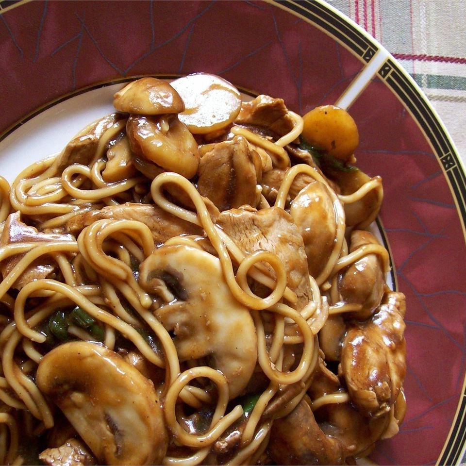 Курица с грибами в соусе (по-восточному)