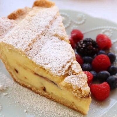 Пирог с рикоттой (старинный итальянский рецепт) - рецепт с фото