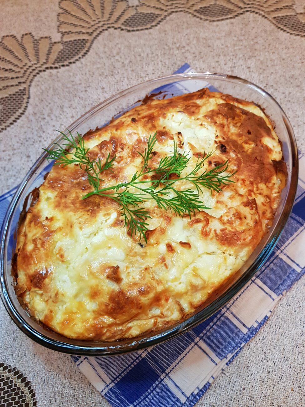 Пирог из лаваша с зеленью и сыром