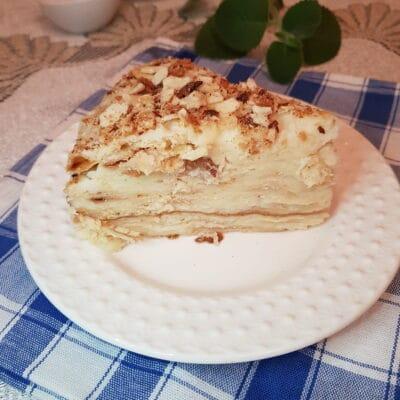 Слоеный торт «Наполеон» с заварным кремом - рецепт с фото
