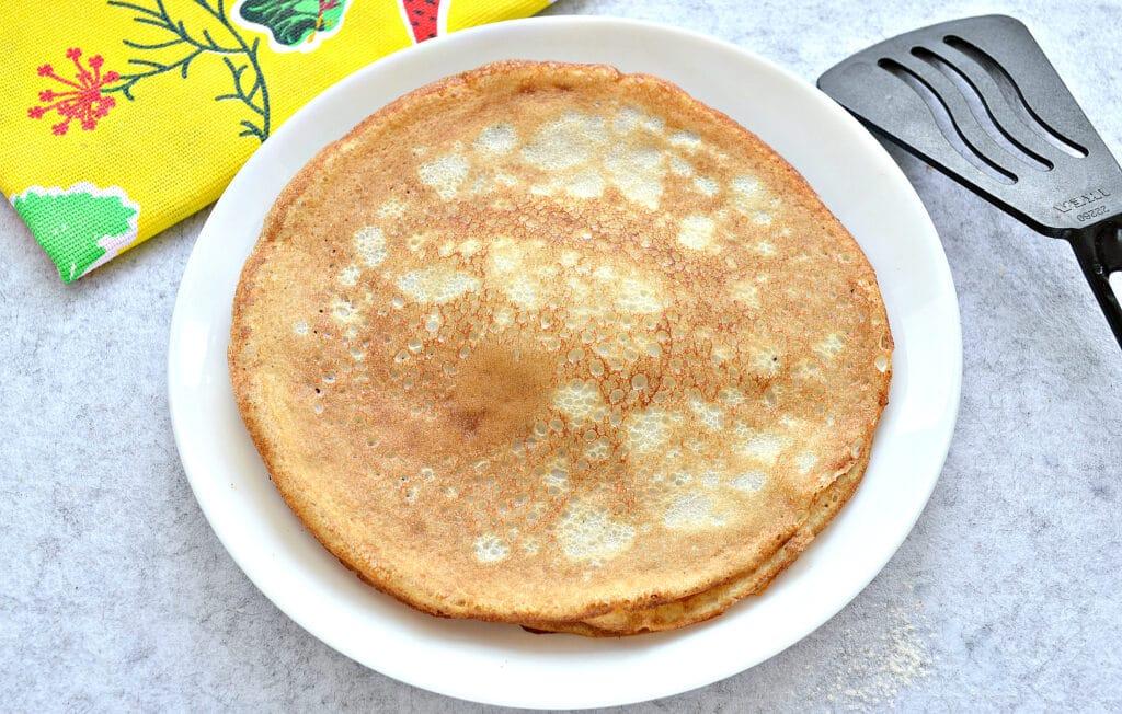 Фото рецепта - Блины на молоке с разрыхлителем - шаг 6
