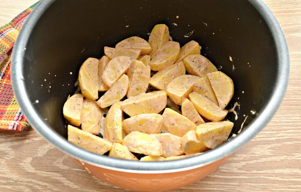 Фото рецепта - Картофель по-селянски со сметаной в мультиварке - шаг 6