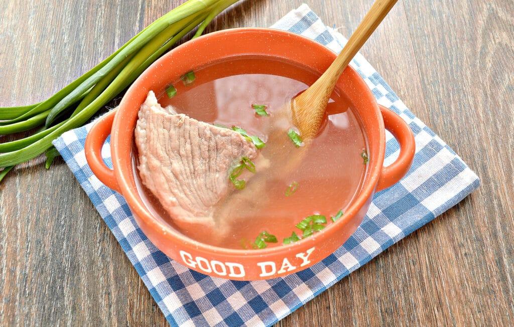 Фото рецепта - Бульон из свинины в мультиварке - шаг 6