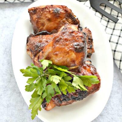 Куриные бедра в сковороде гриль-газ - рецепт с фото