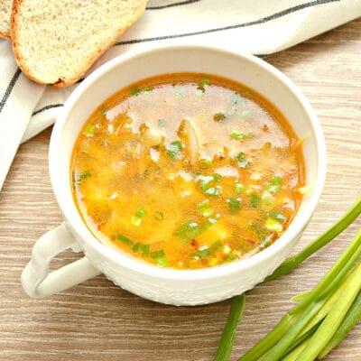Суп с капустой и малосольными огурчиками - рецепт с фото