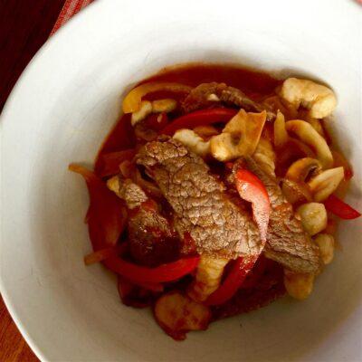 Говядина с овощами - рецепт с фото