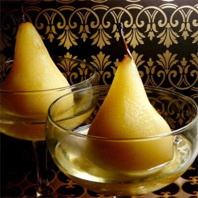 Десертная груша в ликере - рецепт с фото