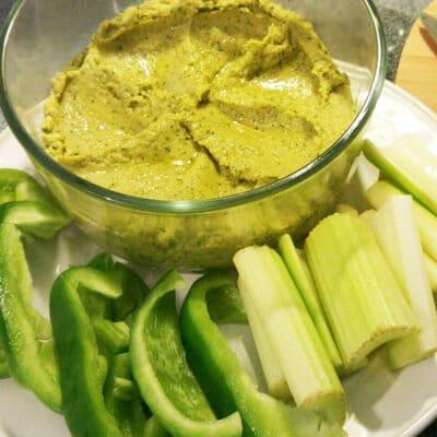 Хумус с базиликом - рецепт с фото