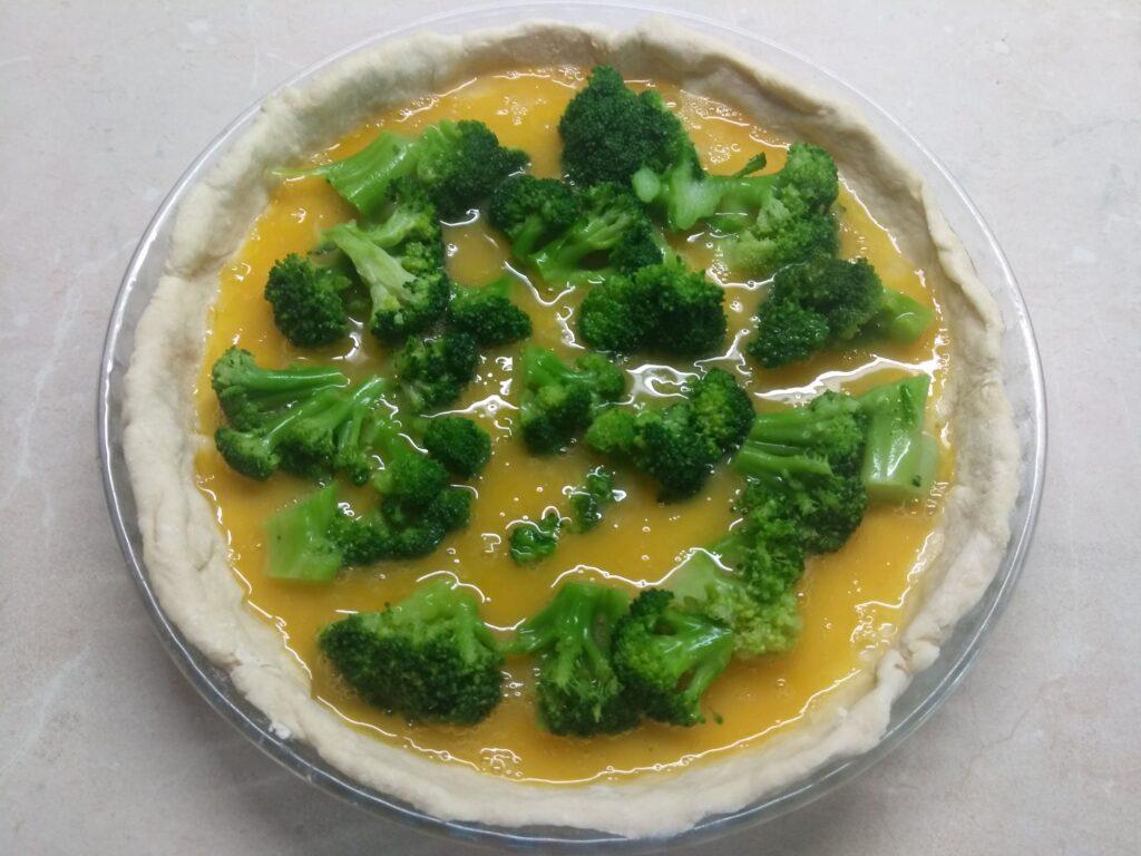 Фото рецепта - Открытый пирог с балыком и брокколи - шаг 3