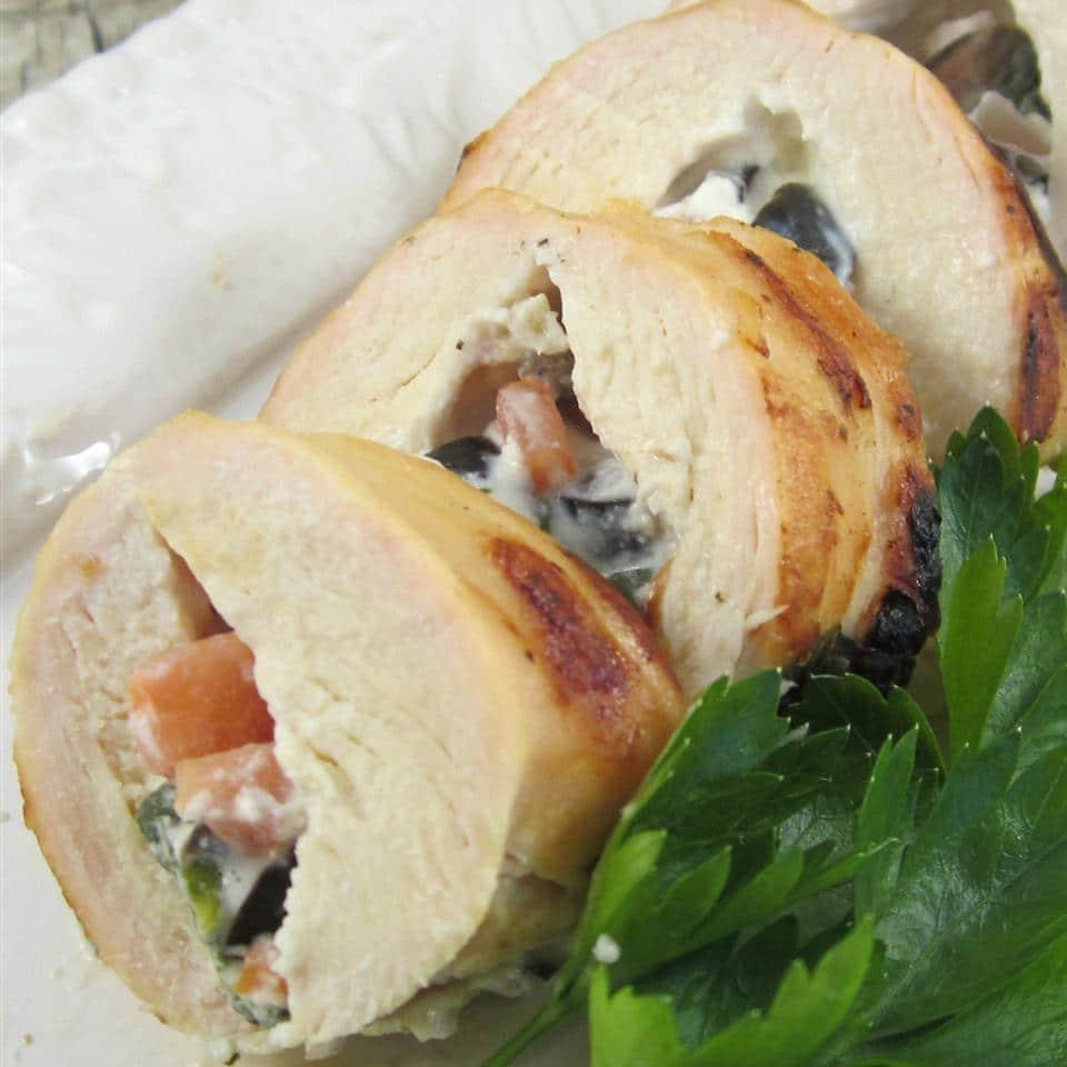 Курица, фаршированная греческим сливочным сыром