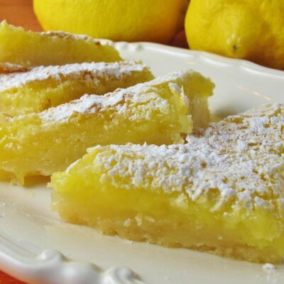 Лимонные пирожные - рецепт с фото