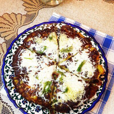 Картофельные блины с сыром и зеленью - рецепт с фото