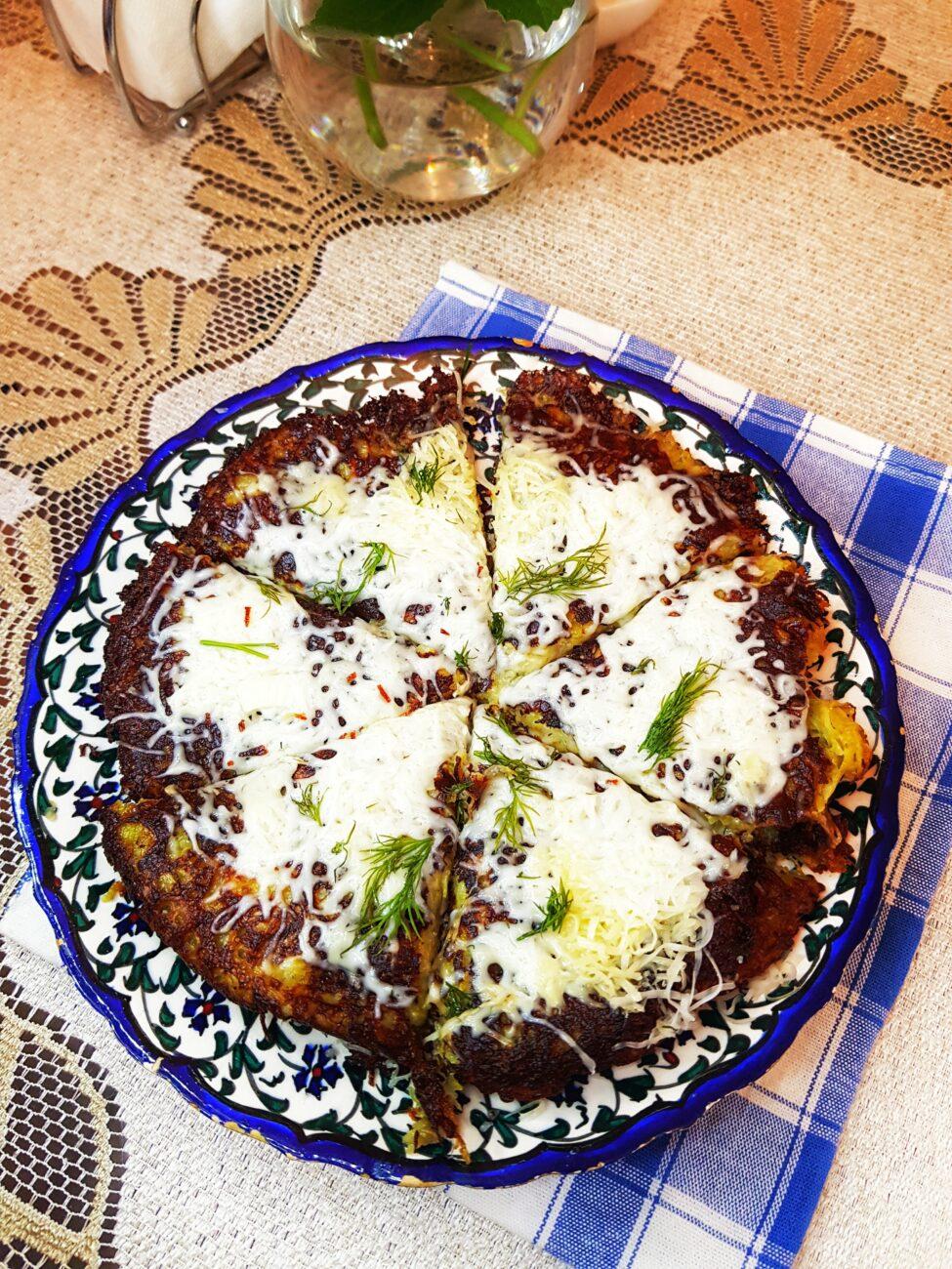 Картофельные блины с сыром и зеленью