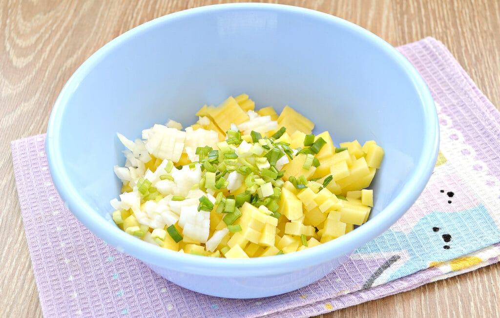 Фото рецепта - Курник с картофелем и куриным фаршем - шаг 3