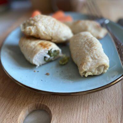 Рулетики из индейки с брокколи - рецепт с фото