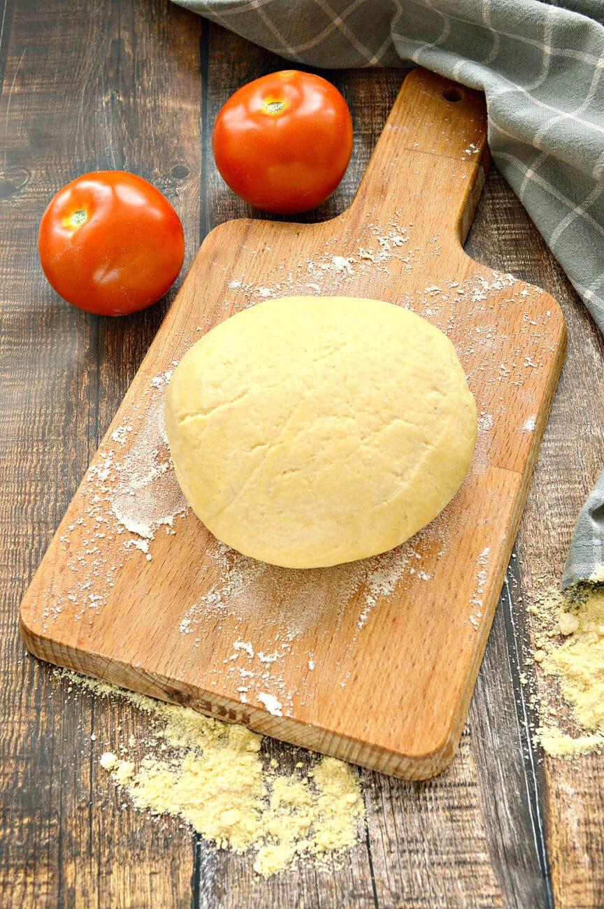 Мягкое тесто для пиццы с кукурузной мукой