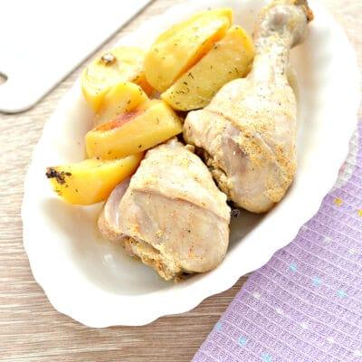 Куриные голени с картошкой в мультиварке - рецепт с фото