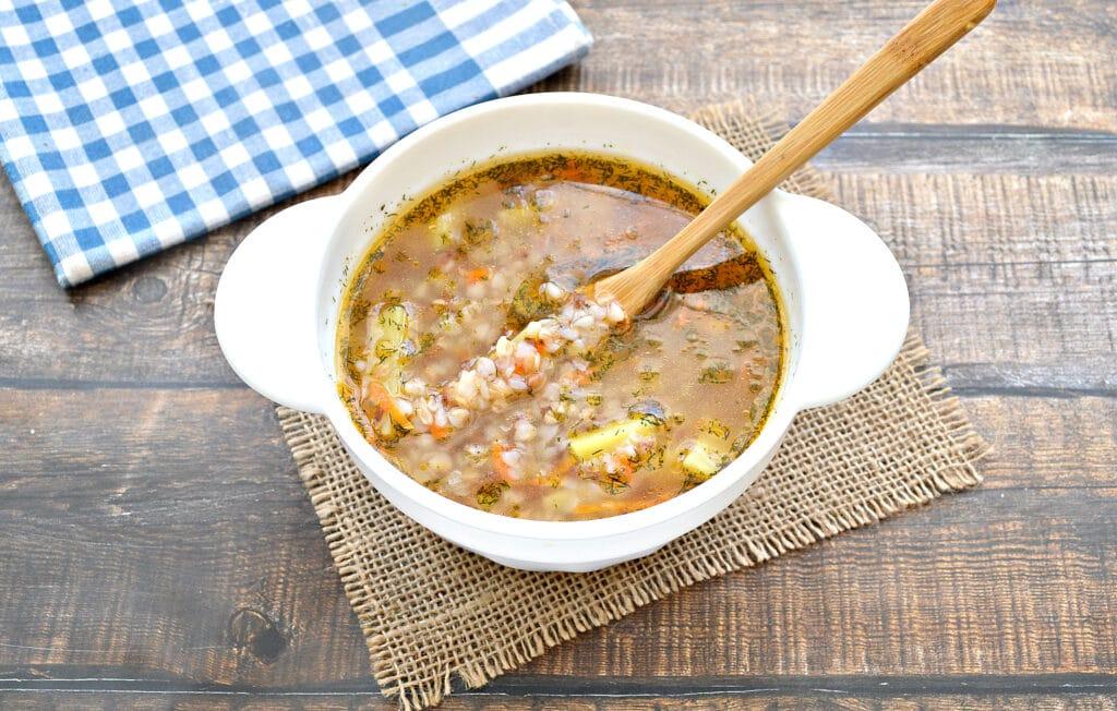 Фото рецепта - Постный гречневый суп - шаг 7