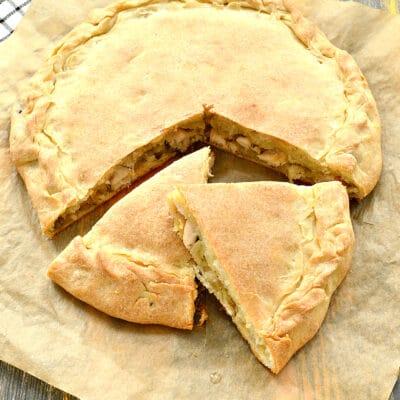 Пирог с курицей и капустой - рецепт с фото
