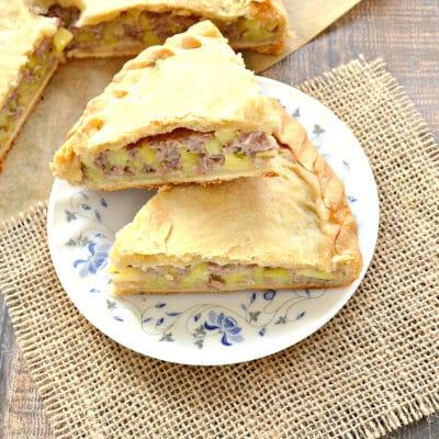 Курник с картофелем и куриным фаршем - рецепт с фото