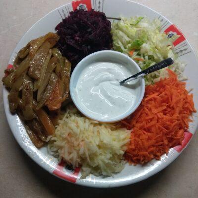 Овощной салат-конструктор - рецепт с фото