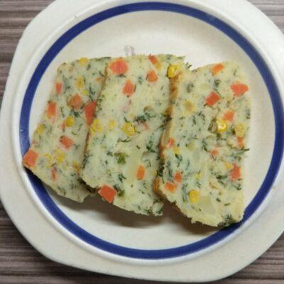 Картофельный террин с кукурузой, укропом и морковью - рецепт с фото
