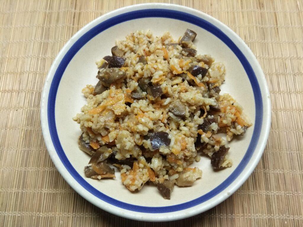 Фото рецепта - Рис с баклажанами - шаг 5