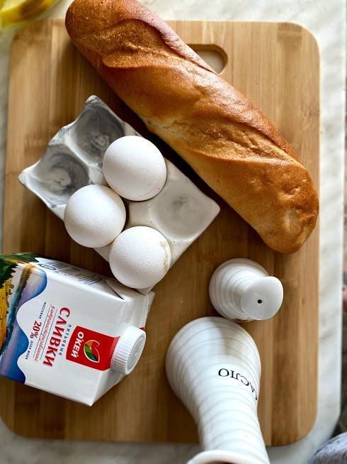Фото рецепта - Гренки на завтрак - шаг 1